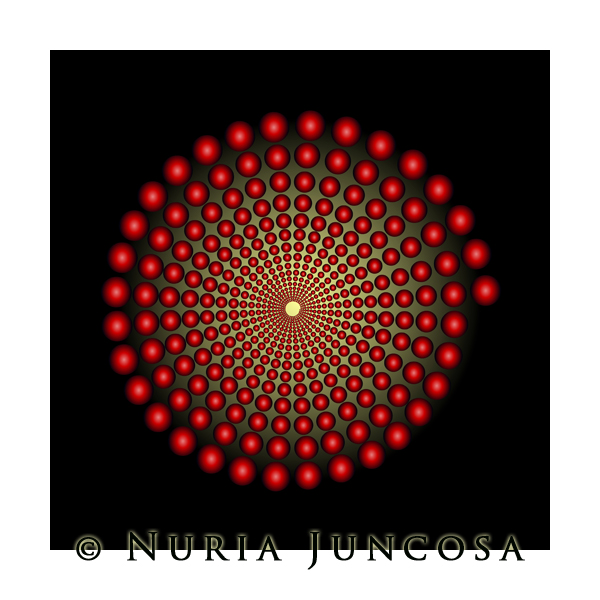 RED INCREMENTATIONS by Nuria Juncosa